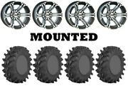 Kit 4 Sti Outback Max Tires 32x10-14 On Itp Ss212 Machined Wheels Pol