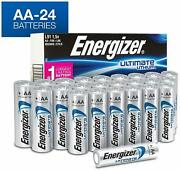 24 Pack Energizer Aa Lithium Batteries World's Longest Lasting Aa Battery