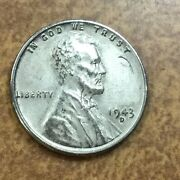 1943 D Lincoln Cent Steel Penny Thru Mint Error Scrap Or Wire Bits