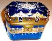 Antique Bohemian Glass Moser Glass Box 24k Gold And Enameled Design