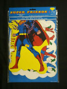 Marvel/dc 1976 Super Friends Decorative Cutouts 4 Designs Sealed Never Opened