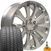 Polished 22 High Country Wheels, Tires, Tpms Fit 2019 Chevy