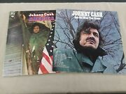 Johnny Cash Vinyl Record Lot America 200-year Salute / Any Old Wind That Blows