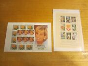 Princess Diana Lot Of 2 Mint Stamp Sheets Nevis 1096, Cambodia 1685 A-h