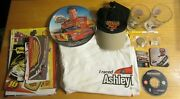 Nascar/indy Racing Lot Of Collectible Items Glasses, Photos, Stickers, Posters++