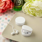 31-200 White Ear Bud Headphones W/ Case - Diy Wedding Party Favor