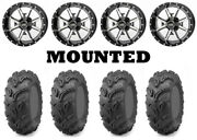 Kit 4 Maxxis Zilla Tires 27x9-12 On Frontline 556 Machined Wheels H700