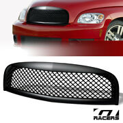 Matte Black For 2006-2011 Chevy Hhr Luxury Mesh Front Bumper Grill Grille Abs
