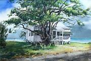 Stan Sharp -pigeon Key Florida -1960s Watercolor -exhibited With Andrew Wyeth