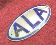 - Old Ala Emblem From Automotive Legal Association - Nice Display For Car Shows