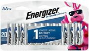 12 Pack Energizer Aa Lithium Batteries World's Longest Lasting Aa Battery