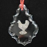Reed And Barton Twelve Days Of Christmas Sterling And Crystal French Hen Used
