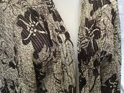 Chicos Size 3 Travelers Jacket Tunic Womens Xl Animal Print Knit Open Front Nwt