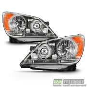 For 2008-2010 Honda Odyssey Headlights Chrome Headlamps Replacement Left+right