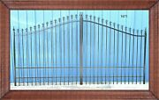 Wrought Iron Style Steel / Iron Driveway Gate 14and039 Wide Yard Home Safe Security