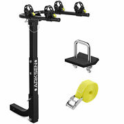 Premium 2-bike Carrier Rack Hitch Mount Swing Down Bicycle Rack W/2 Receiver