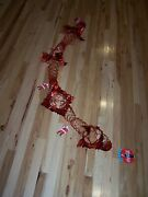 Coca Cola Christmas Party Decoration - Santa Claus - Red Foil About 10and039 - Lot B