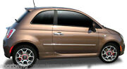 Painted - Body Side Moldings With Chrome Trim Insert For Fiat 500 2 Dr 2012-2019