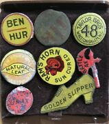 Antique Tobacco Tags Lot Of 8 Includes Whitaker-harvey Golden Slipper