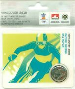 2010 Canada 2008 25c Vancouver 2010 Olympics Coin Sport Card Alpine Skiing