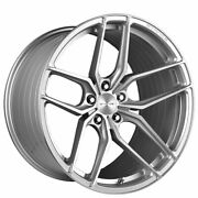 4ea 22 Staggered Stance Wheels Sf03 Brush Silver Rims S1