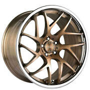 4ea 20 Staggered Vertini Wheels Rfs1.4 Brushed Bronze With Chrome Lip Rims S1
