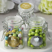 25-96 Personalized Metallic Apothecary Candy Jar - Wedding Shower Party Favor