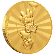 Niue 25 Dollar 2019 Minnie Mouseandtrade - Mickey Mouseandtrade And Friends2. - 1/4 Oz Gold Pp