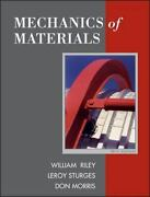 Mechanics Of Materials Hardcover By Riley William F. Sturges Leroy D. Mo...