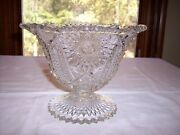 Eapg Jefferson Glass Kenneth Compote/footed Bowl