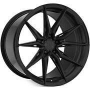4ea 20x10/20x12 Staggered Rohana Wheels Rfx13 Gloss Black Rims S3
