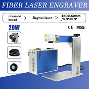 7.9andtimes7.9 Detached 20w Fiber Laser Marking Machine Laser Marker + Rotary Axis Us