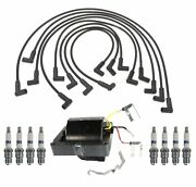 Ignition Wires Coil 8 Spark Plugs Kit Acdelco For C10 K10 Suburban 5.7l Ld Hei