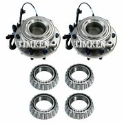 Front And Rear Wheel Bearings And Hubs Kit Timken For F-450 F-550 Super Duty 2wd