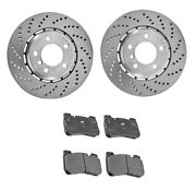 New Genuine Front Brake Kit Disc Vented Rotors And Pads For Bmw F90 M5 2019