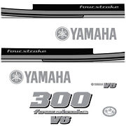 Yamaha 300 Four Stroke Die Cut Decals Outboard Engine Graphic Motor 300hp Silver