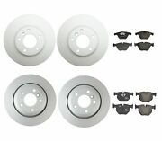Genuine Front And Rear Brake Kit Disc Rotors And Pads For Bmw E60 528i 2008-2009