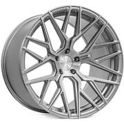 4ea 20x10.5/20x12 Staggered Rohana Wheels Rfx10 Brushed Titanium Rims S4