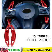 Red Steering Wheel Shift Paddle Shifter Extension For Subaru Legacy Forester Brz