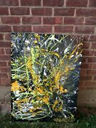 Original Painting Abstract Graffiti By Musk Yai Signed One Of A Kind Huge 30x40