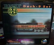 Mth Bnsf Dash 9 Set With 4 Husky Stack Cars Proto Sound Bcr Installed 20-2172-1
