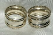 Silver .800 Scarf Holders Or Napkin Ring Holders Monogrammed Lt And Ht Nice
