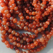 A Strand Of Old Antique Carnelian Agate African Stone Beads Mali 4110
