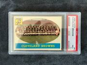 Jim Brown With 1958 Topps 9 Browns Team Psa 7.5 Nm+ Jb '58t62rc Val22,000