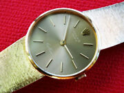 Circa 1973 Womenand039s Rolex Cellini 18k Solid Gold Case Cal 1600 Manual
