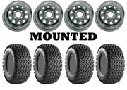 Kit 4 Carlisle All Trail Tires 25x8-12/25x10.5-12 On Itp Delta Steel Silver Wct