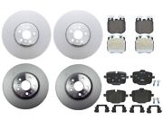 Genuine Front And Rear Brake Kit Disc Rotors And Pads For Bmw G30 540i Blue Caliper