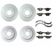 Genuine Front And Rear Brake Kit Disc Rotors Pads Shoes For Bmw E91 E93 328i 10-11