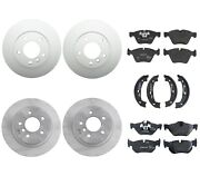 Genuine Front And Rear Brake Kit Disc Rotors Pads Shoes For Bmw E82 E88 128i 08-10