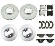 Genuine Front And Rear Brake Kit Disc Rotors Pads And Shoes For Bmw E70 E71 X5 X6 M